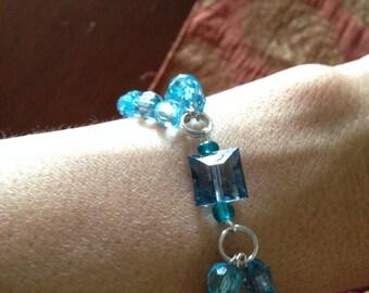 Double Line Blue Bracelet
