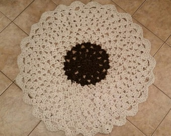 44 Inch Crocheted Rug