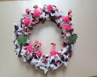 Wreath - Party Flamingoes