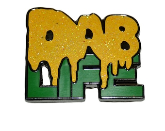 The Dab Life Heady Hippie Weed Festival Lapel 710 Enamel Heady 420 Dab Pin W/ Free Shipping