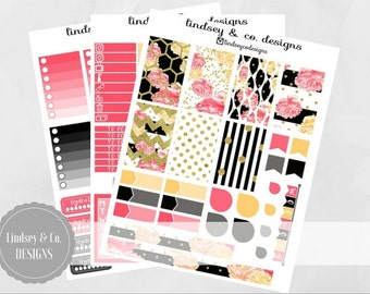Lady Boss Glam - BIG Happy Planner Printable Sticker Kit