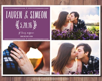 Printable Save the Date, Modern Photo Save the Date, Simple Save the Date Card, Save the Date, Photo Credit: AMP