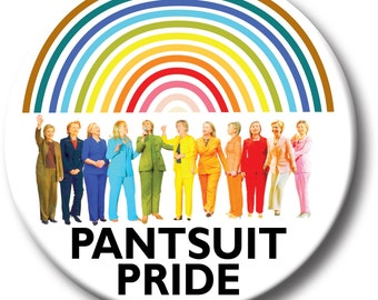 Hillary Clinton White House Political Button Pins Funny Feminist Democrat Liberal Election 2016 Historical Presidential Campaign Gay Rainbow