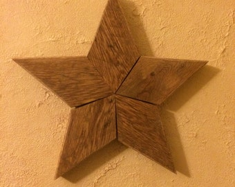 Reclaimed Patchwork Rustic Wooden Star