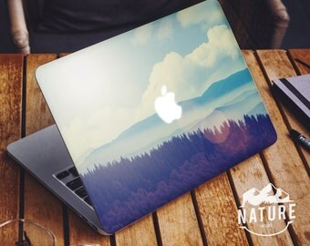 Outdoors macbook Air decal Travel macbook skin Landscape vinyl sticker cover for Macbook retina mountain horizon -NI013