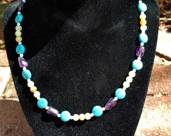 Amethyst Turquoise Necklace