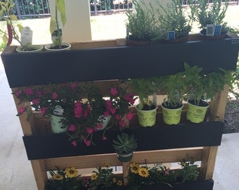 Pallet Garden, Custom, Made to Order, Chalk, Chalkboard, Reclaimed, Garden, Pallet, Plant, Outdoor