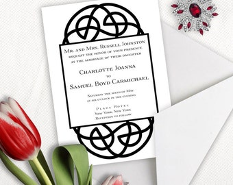 Celtic Circle Irish Wedding Invitation