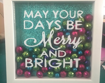 Merry and bright shadow box