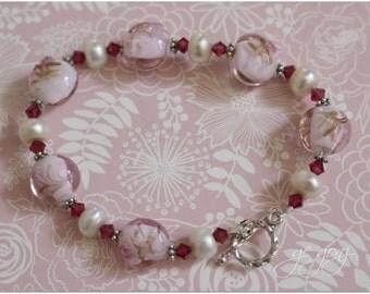 Handmade lampwork bracelet