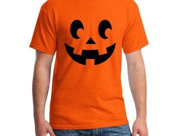 Pumpkin Face Jack-O-Lantern Halloween Tee Scary Pumpkin Face Shirt  Halloween Party T-Shirt Pumpkin Face Happy Halloween