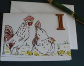 Chicken Note Card, Hen Card, Rooster Card, Chicken Gift, Peeps, Chicks