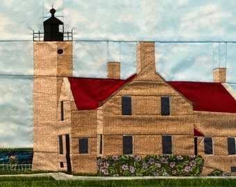 Old Mackinac Point, MI Lighthouse quilt pattern