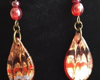 Lampwork Earrings Made To Match Another Listing (sold separately)