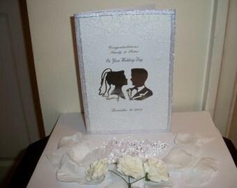 Personalised handmade Wedding/Anniversary/Engagement box frame keepsake gift