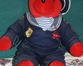 Collectible bear Red Octobear