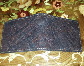 Authentic hand made hand crafted elephant wallet with minimalist wallet