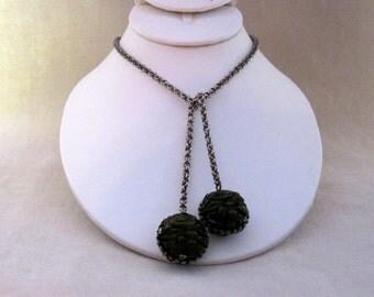On Sale - Great Vintage Bakelite Bolo Style Necklace