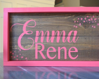 Planked Wood Name Sign