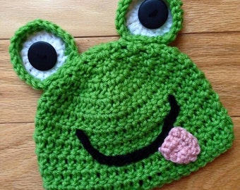Green Frog Hat
