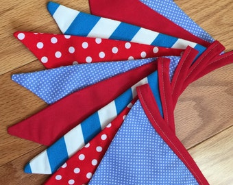 Bunting / Fabric banner / Custom / Baby shower / Baby gifts / Pennants / Flags / Decorative banner / New baby