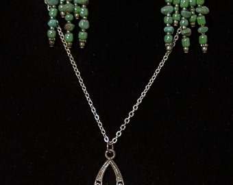 Chandelier necklace and earrings sets