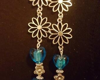 Daisy, Beaded Earrings - Handmade