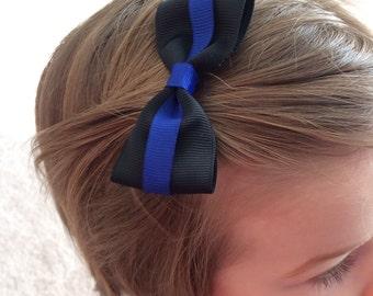 Police Hair Bow
