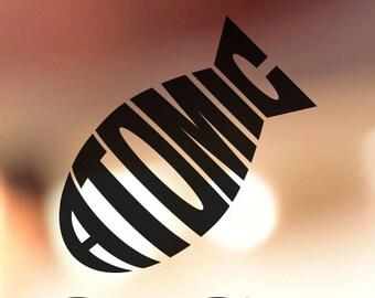 Atomic Bomb Vinyl Decal