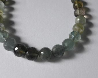 Aquamarine gemstone necklace