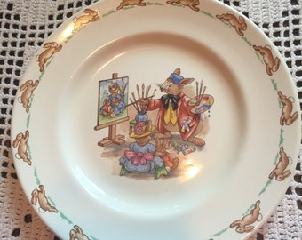 Vintage Bunnykins porcelain plate