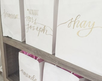Personalized Gift Bags - Bridesmaids Favors - Gift Bags - Party Favors - Monogrammed Bags