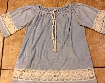 1970's - 1980's Terry Cloth Tunic Top (Large) • Vintage Tunic Top • Terry Cloth