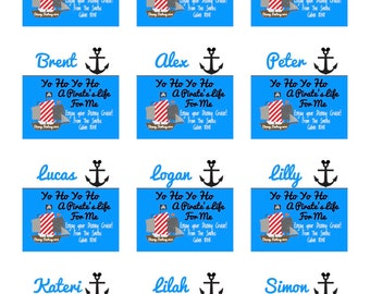 Disney Fish Extender Gift Tags-Twelve Customized Labels- Printable File