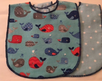 Happy Whale Baby Bib