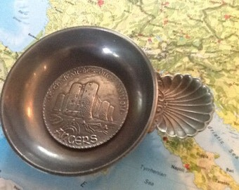 Pewter French wine taster or sommilier