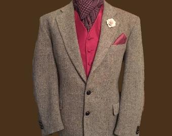 Brook Taverner Vintage Harris Tweed 42 Regular Sports/Country Jacket,Immaculate Condition Vintage Garment