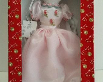 Dillard's Trimmings Porcelain Cat in Pink Dress Ornament/Dillard's Holiday Christmas Collection/Cat/Cat Ornament/Dillards Trimmings/Holidays