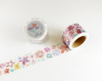 Japanese Washi Tape - Chamilgarden vol 7 - Orange Flower