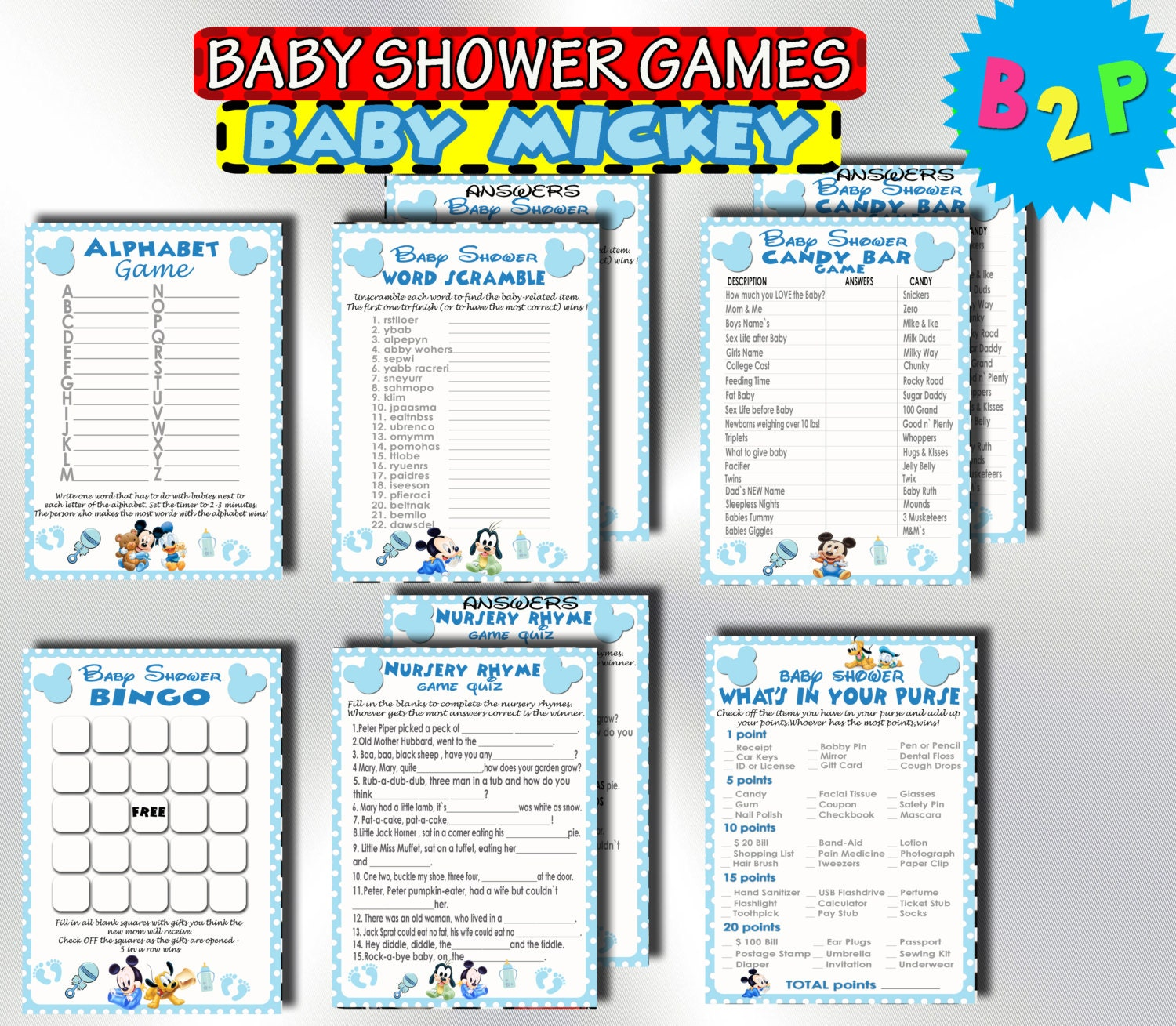 mickey mouse baby shower games printable baby shower games