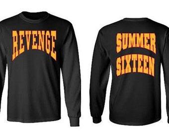 Drake Revenge Summer Sixteen Tour black long sleeve shirt
