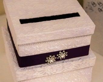 Wedding Card Box - Lace Card Holder