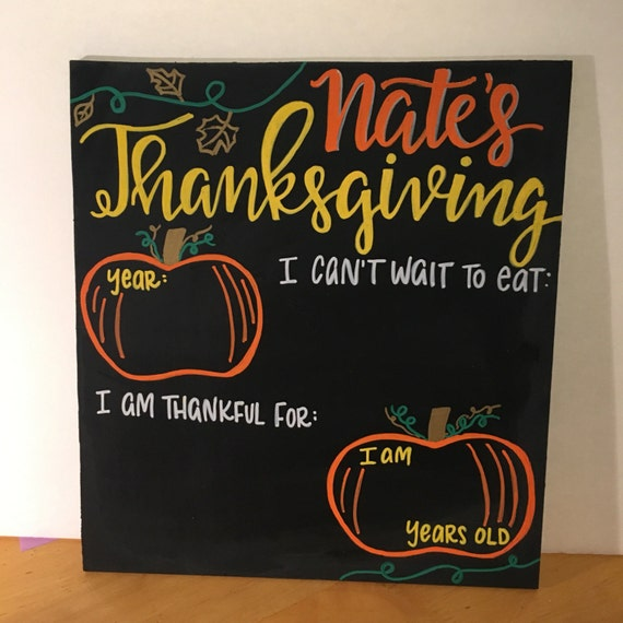 Yearly personalized Thanksgiving Chalkboard