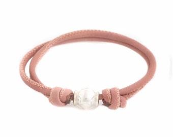 Offer leather and silver bracelet, IFATY bracelet-Handmade