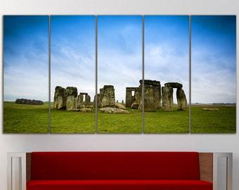 Stonehenge England Wall Art Large Canvas Print Decor