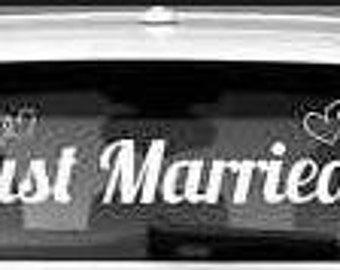 "Wedding ""Just Married"" Window Decal approximately 40"" long"