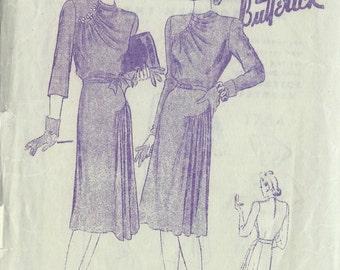 "1942 Vintage Sewing Pattern B34"" DRESS (R220) Butterick 1754"