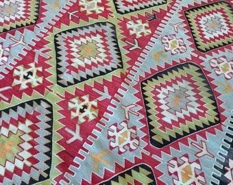 Vintage, Esme, Turkish, Kilim
