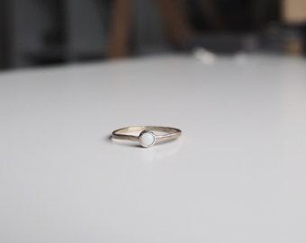 Baby Opal Ring - ooak size 4.5 -