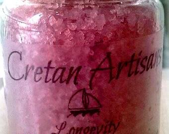 Cretan fleur de sel infused with pomegranate 90gr